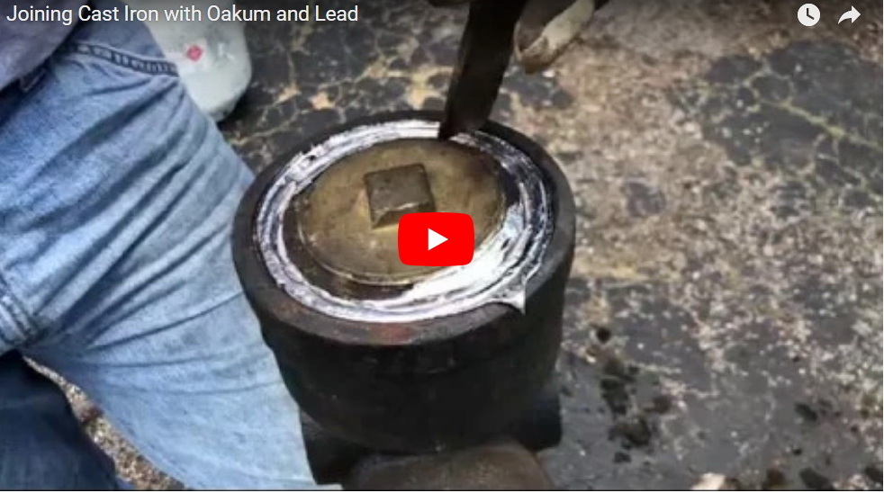 Joining Cast Iron Fittings with Oakum and Lead