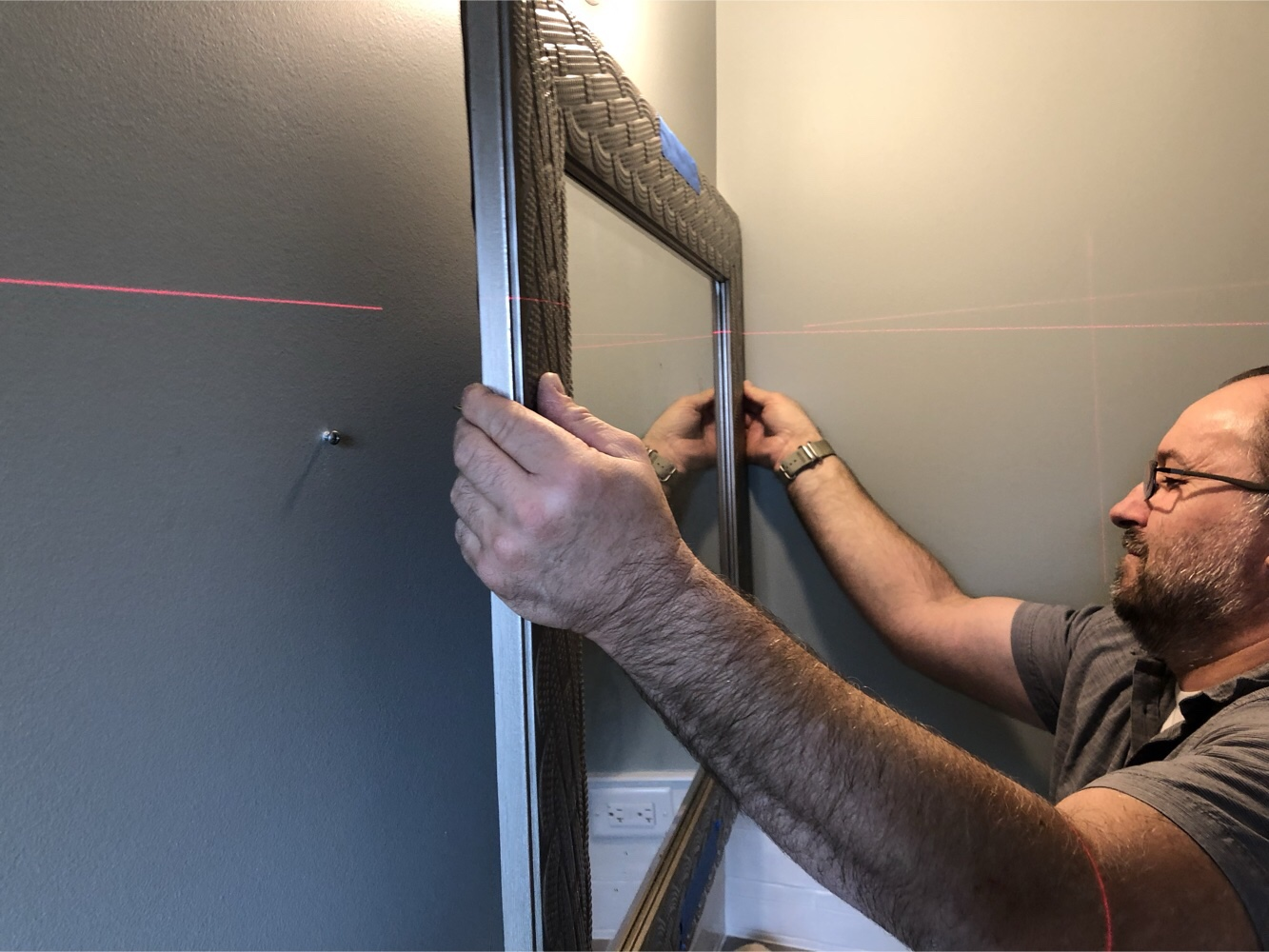 How To Hang A Mirror Gizmo Exteriors Repair