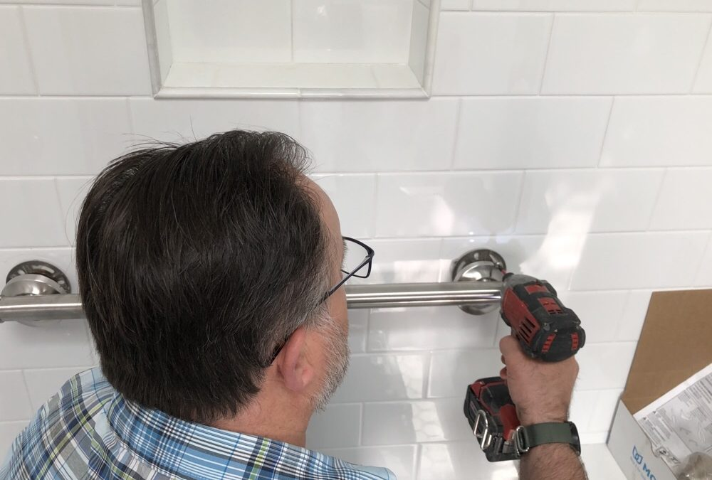 Attaching Grab Bars In A Shower