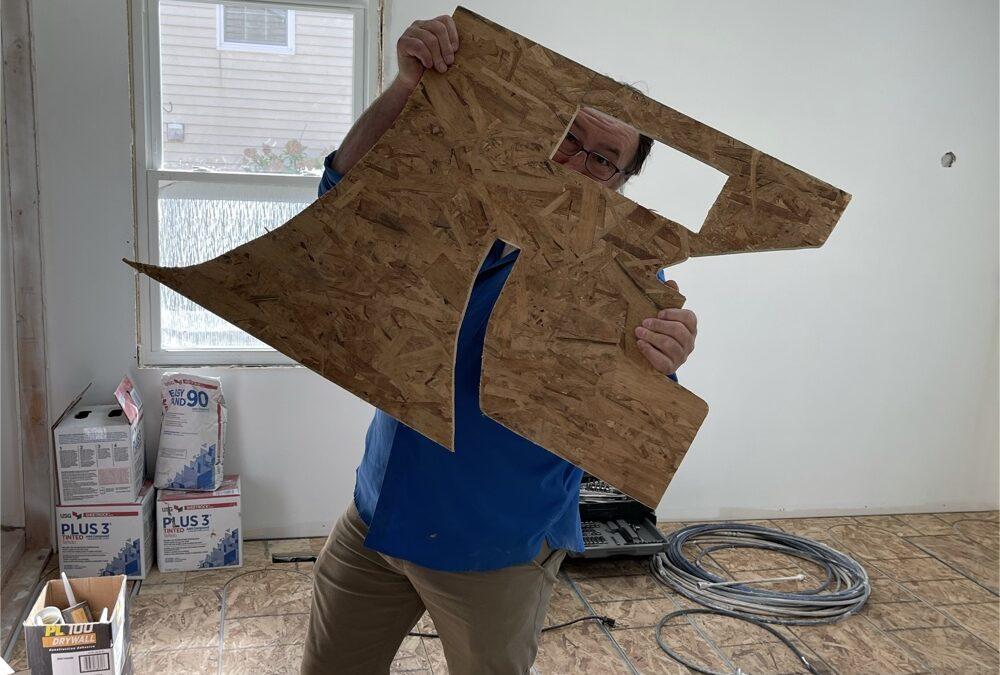 Using A Cardboard Template