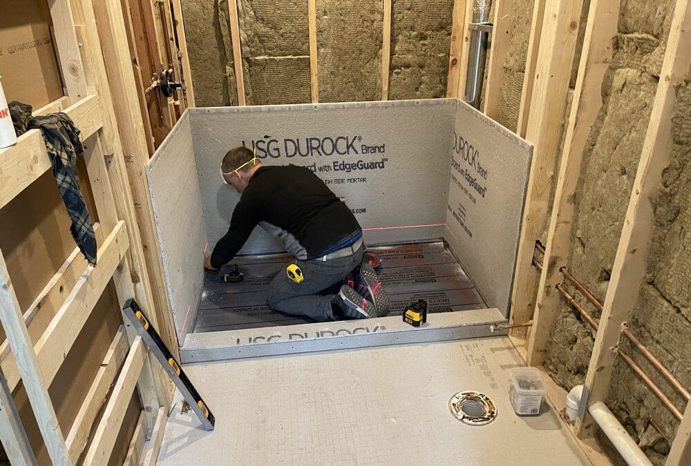 Building A Custom Shower Base