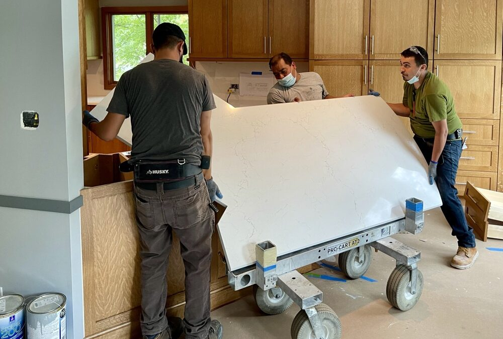 Using A Laser System To Measure A Counter Top